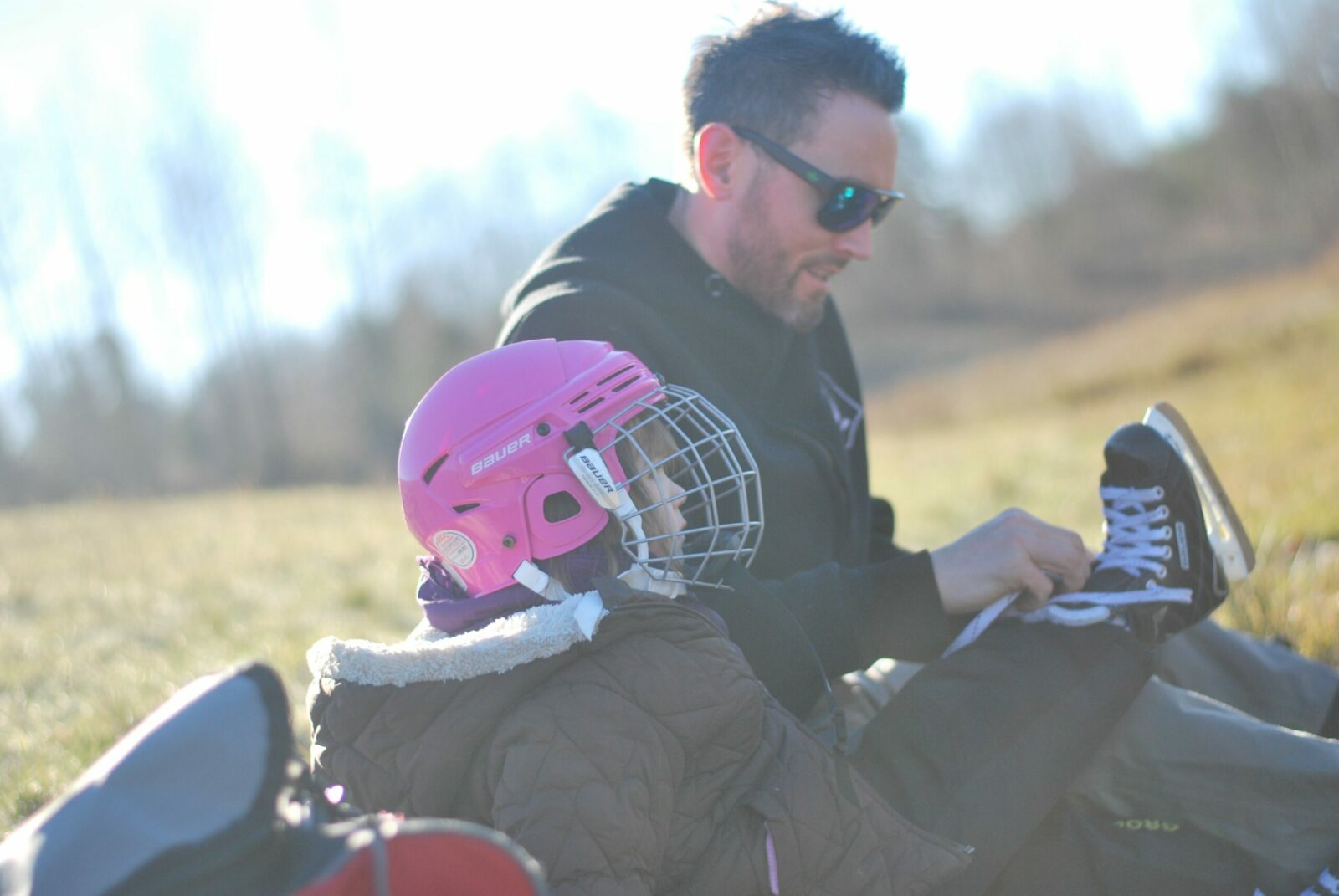 Tim with his daughter