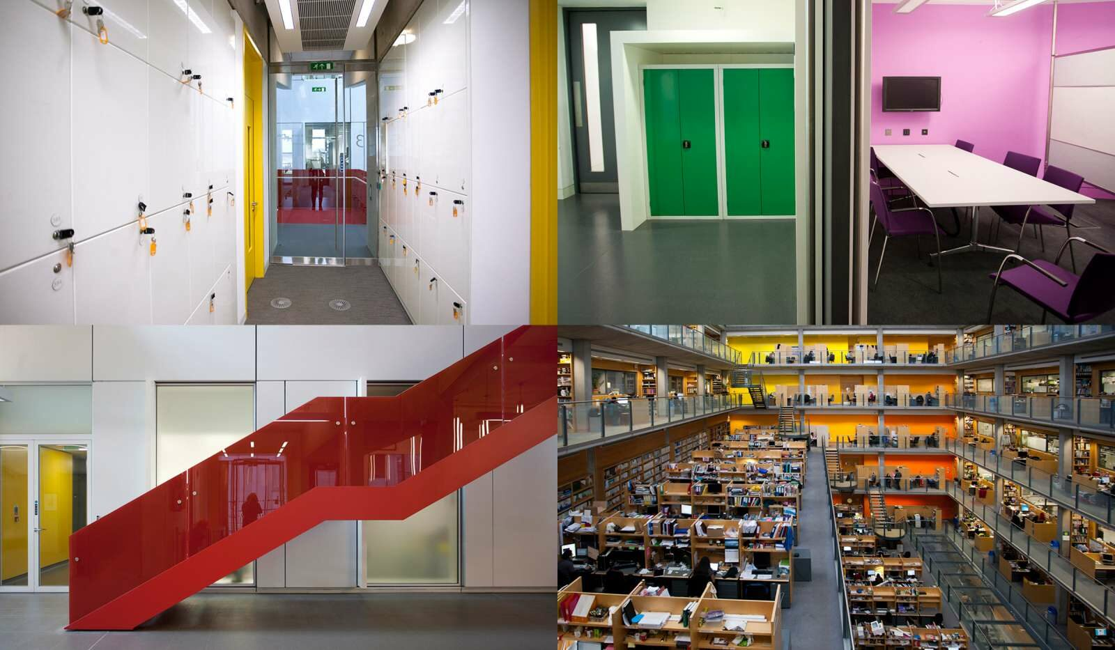 Collage of the interior of the Imperial College London campus